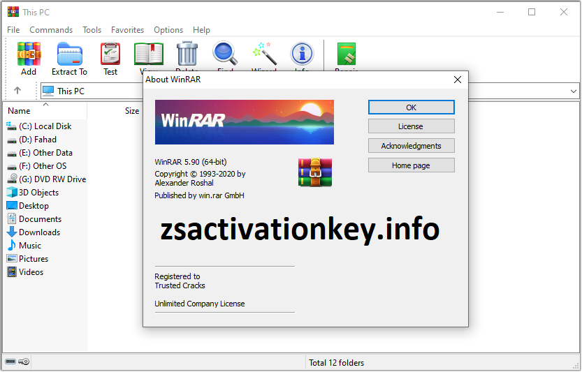 WinRAR Crack 6.0 Beta 1 With Keygen Free Download [Latest 2020]